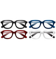 four pair of eyeglasses vector image