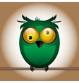 funny cute bird owl vector image