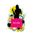 girl silhouette with banner text one vector image