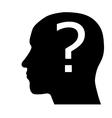 Head silhouette vector image