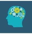 Machine Gear Wheel Cogwheel Human Brain Concept vector image