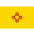 New Mexico Flag vector image