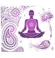 set of yoga theme vector image