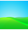 Summer Green Field vector image