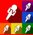 tv microphone sign set of vector image