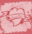 Vintage Heart Label vector image