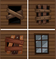 windows with good and bad conditions vector image