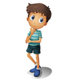 A thinking boy vector image vector image