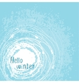card Hello winter vector image vector image