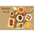 Portuguese dinner dishes icon for healthy food vector image