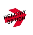 Healthy option stamp vector image
