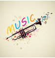 abstract background with trumpet vector image vector image