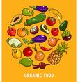 Set of organic food vector image
