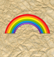 Vintage Card With Rainbow vector image