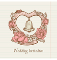 vintage wedding card vector image vector image