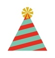 party hat isolated icon design vector image