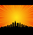 Big city comic book style background vector image