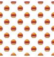burger pattern seamless vector image