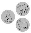 chinese zodiac ox rat pig vector image