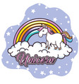 cute unicorn design vector image
