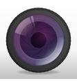 Photo camera lense vector image