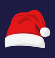 santa claus red hat vector image