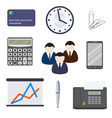 Set of business items on a white background vector image