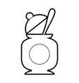 sugar pot with spoon vector image