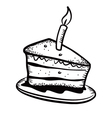 cake doodle vector image