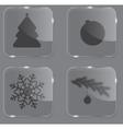 Glass Christmas button vector image