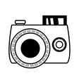 outline photo camera picture beach vector image