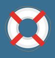 lifebuoy icon flat cartoon style isolated on vector image