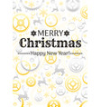 merry christmas and new year pattern background vector image