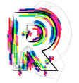 Colorful Font Letter R vector image vector image