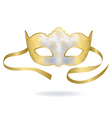 venetian gold carnival mask vector image vector image