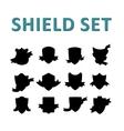 Black Shields Set vector image