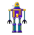 Colorful toy robot in vintage style vector image