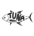 Drawing tuna fish vector image