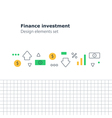 Finance investment concept earn money strategy vector image