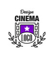 flat cinema or movie logo template design with vector image