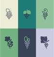 Grape with leaf Logo templates set vector image