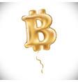 metallic gold b bitcoin symbol balloons golden vector image