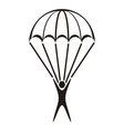 Parachute jumper icon vector image