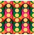 Seamless red yellow circles pattern vector image
