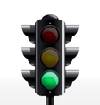 TRAFFIC light green vector image
