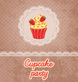 Cupcake Party vector image vector image