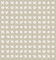funny simple seamless tic-tac-toe pattern vector image vector image