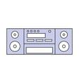 vintage radio stereo vector image