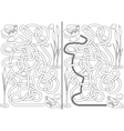 Frogs maze vector image vector image
