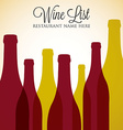 Red and White wine list menu cover in format vector image vector image